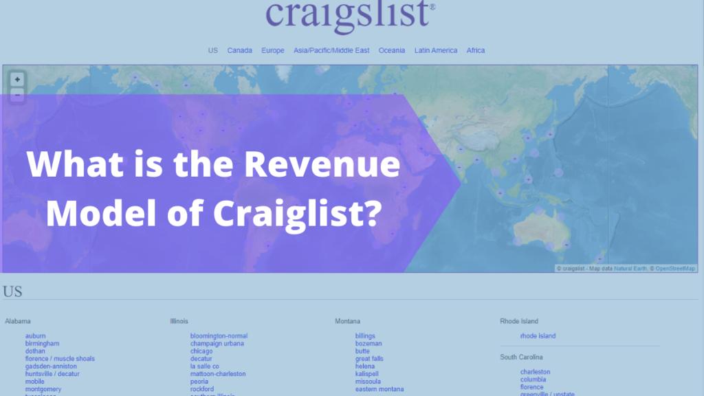 Revenue Model of Craiglist